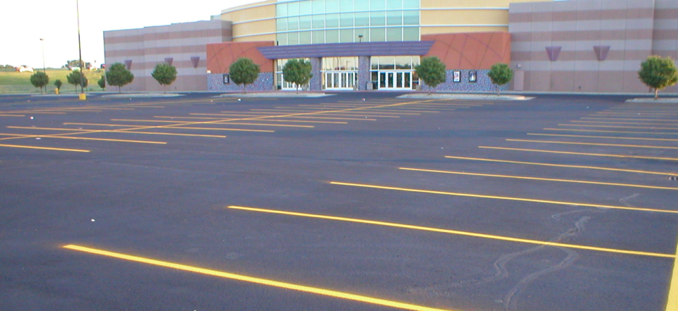 Power Washed Parking lot in Virginia and DC Metro area