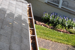 gutters waiting to be powerwashed