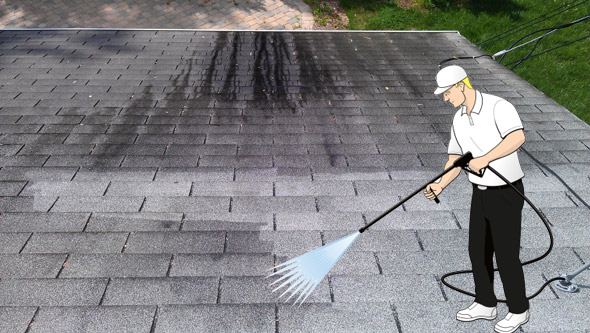 roof-being-cleaned