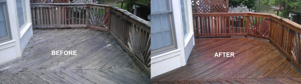 DECK BEFORE AFTER