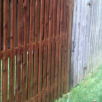 A tired old fence is restored.